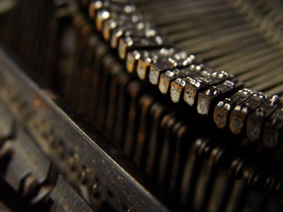 Typewriter Writing Content Copied